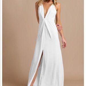 Eyes on you ivory maxi dress